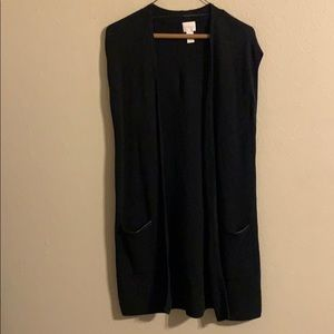 Chico's black sleeveless cardigan vest medium